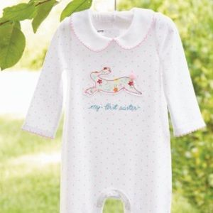 MudPie Mud Pie My 1st First Easter Baby Outfit 0-3